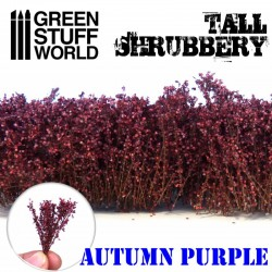 Tall shrubbery, autumn purple.