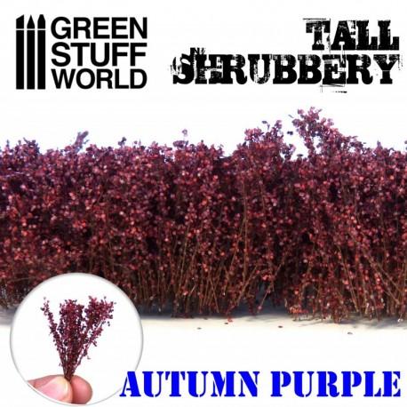Tall shrubbery, autumn purple.