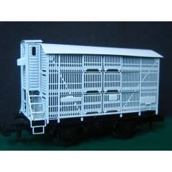 Vagón jaula unificado con garita en latón. KITLATREN 41002N