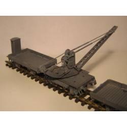 Grua GM-901 con dos vagones. Kit de latón. KITLATREN 41009N