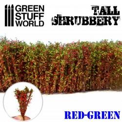 Arbustos altos, rojo verde.