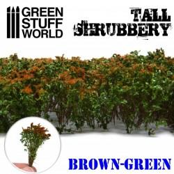 Arbustos altos, marrón verde.