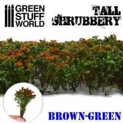 Tall shrubbery, brown green.