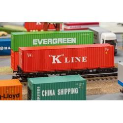 """Contenedor de 40 pies """"K-Line""""."""