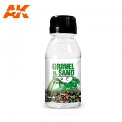 Gravel and sand fixer. 100ml.