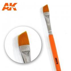 Diagonal weathering brush.