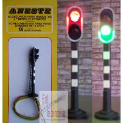 Railway light signal - 2 aspects.