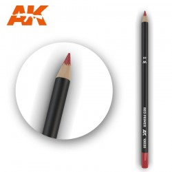 Watercolor pencil red primer.