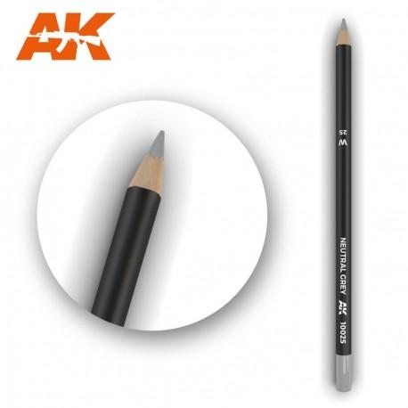 Watercolor pencil dark grey.