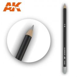 Watercolor pencil aluminium.