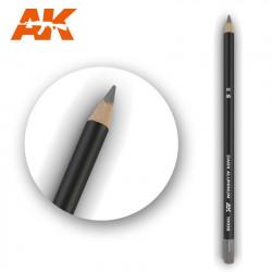 Watercolor pencil dark aluminium.