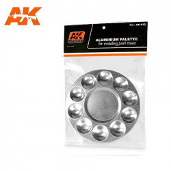 Paleta de aluminio con 10 pocillos.