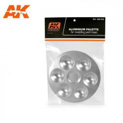 Paleta de aluminio con 6 pocillos.