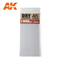 Dry sandpaper, 1000 g.