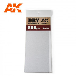 Dry sandpaper, 600 g.