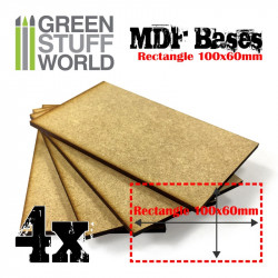 MDF Bases - rectangle, 100x60 mm (x4).