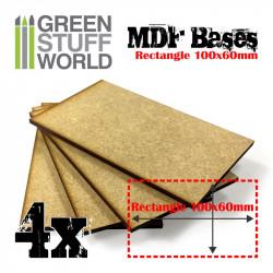 Peanas rectangulares, 100x60 mm (x4).