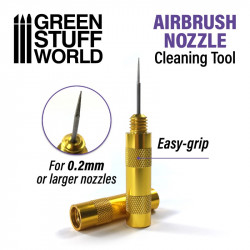Cleaning needle for airbrush.
