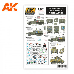 Decal set: US halftracks and M5A1 in north Africa.