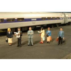 Standing platform passengers. SCENE SCAPES 33110
