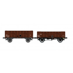 Set of 2 open wagons, SNCF.