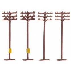Telephone poles.