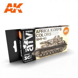 Set de colores de Afrika Korps 1941-43.