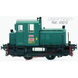 """Locomotora 10145 """"Memé"""" verde oscuro."""