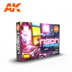 Neon colors set.