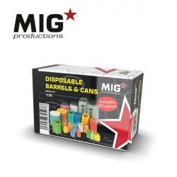 Bidones y latas desechables (x21).