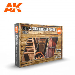 Old & weathered wood colors set (Vol.1).