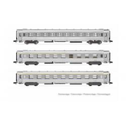 """Set de coches DEV INOX """"La Mouette"""", SNCF."""
