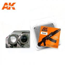 White/Black Lense 3 mm (x4).