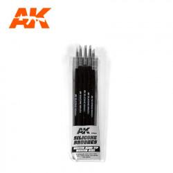 Silicone brushes medium tip medium (x5).
