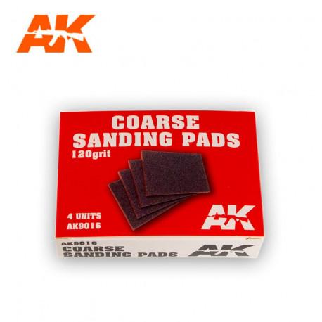 Coarse sanding pads. 120 grit (x4).