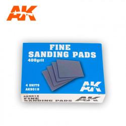 Fine sanding pads. 400 grit (x4).