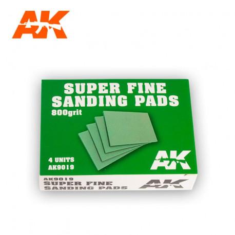 Super fine sanding pads. 800 grit (x4).