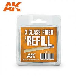 Recambios de fibra de vidrio 4 mm (x3).