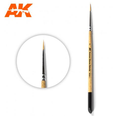 Premium siberian Kolinsky brush Nº 1.