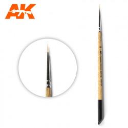Premium siberian Kolinsky brush Nº 2/0.