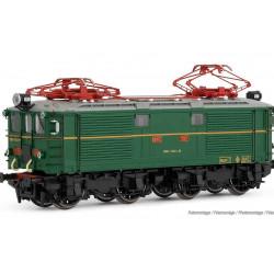 Electric locomotive 281-001, with snowplow, RENFE. Sound.