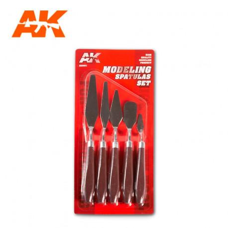 Modeling spatulas set.