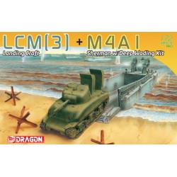 Sherman with landing craft.