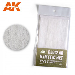 Camouflage net personalized white type 2.