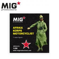 Afrika korps motorcyclist.