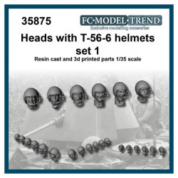 Heads with T-56-6 helmets, set 1.