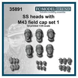 Cabezas SS con gorra.