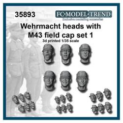 Wehrmacht heads with M43 field cap.