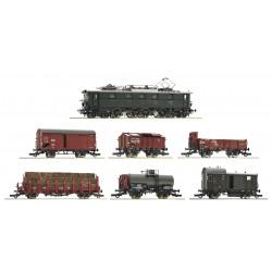 Tren de carga con locomotora eléctrica, DRG.