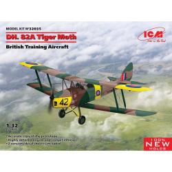 DH.82A Tiger Moth, British Training Aircraft.